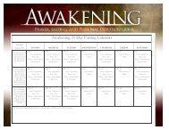 Awakening 21 Day Fasting Calendar