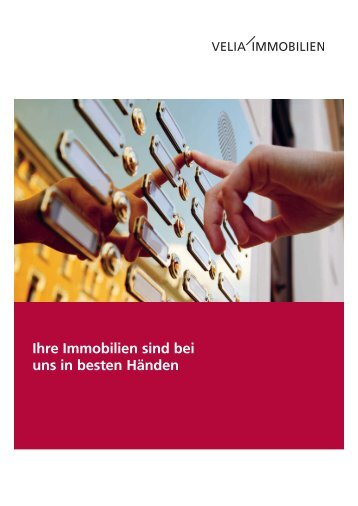 Velia Immobilien AG - the value COMPANY