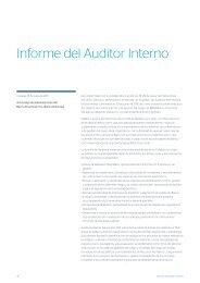 Informe del Auditor Interno - Banco Provincial