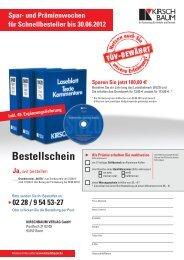 Bestellschein - Kirschbaum Verlag Gmbh