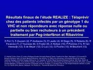 Résultats finaux de l'étude REALIZE : Télaprévir chez des ... - Afef
