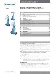 Cast Gate Valves Pressure Seal -Style A - Pentair Valves & Controls