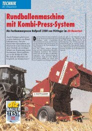 Rundballenmaschine mit Kombi-Press-System