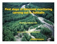 First steps of Salmonid monitoring carryng out in Sakhalin