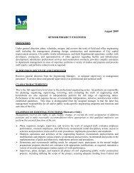 Job Description: Sr Project Engineer - City of Tigard