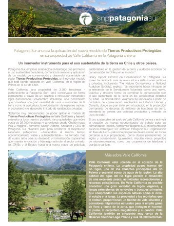 Patagonia Sur anuncia la aplicación del nuevo modelo de Tierras ...