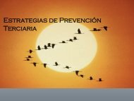 Estrategias de Prevención Terciaria