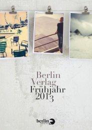Frühjahr 2013 Berlin Verlag