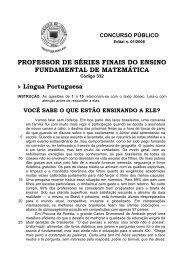 PROFESSOR DE SÉRIES FINAIS DO ENSINO ... - Fundep