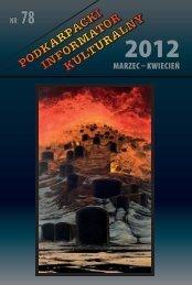 MARZEC KWIECIEŃ NR 78 - Wojewódzki Dom Kultury w Rzeszowie