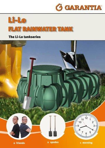 fLat rainwater tank