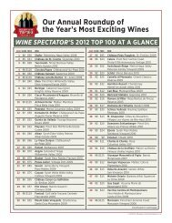 Top 100 Wines - Wine Spectator
