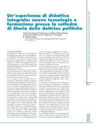 Un'esperienza di didattica integrata: nuove tecnologie e formazione ...