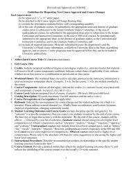 Guidelines for Course Approval