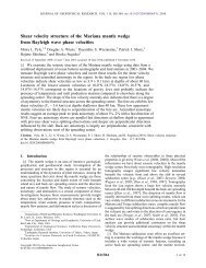 Shear velocity structure of the Mariana mantle wedge from Rayleigh ...