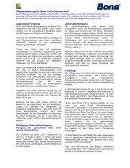Pflegeanweisung für Bona Carl´s Hartwachsöl ... - Parkett Weber