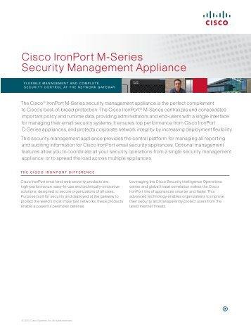 Cisco IronPort M-Series Security Management Appliance