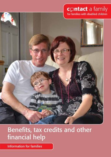 Benefits, tax credits and other financial help - Contact a Family
