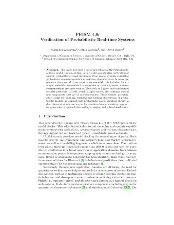 PRISM 4.0: Verification of Probabilistic Real-time Systems