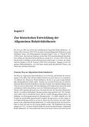 Zur historischen Entwicklung der Allgemeinen Relativit¨atstheorie