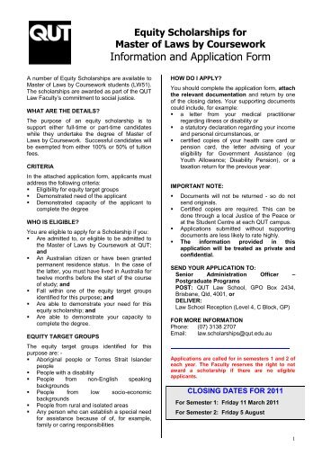Qut application for postgraduate coursework