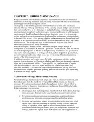 chapter 7: bridge maintenance - Center for Environmental Excellence