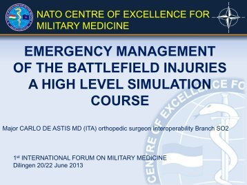 emergency management of the battlefield injuries a high ... - Bsbb