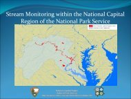 Stream Monitoring within the National Capital Region of the National ...