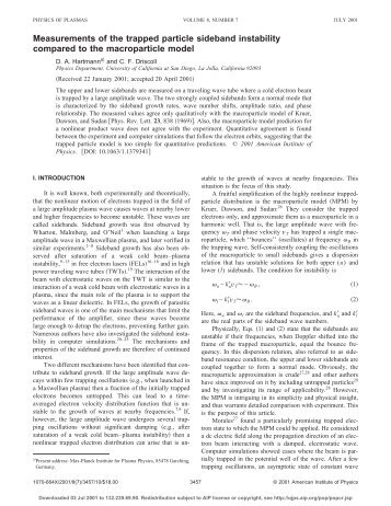 """Measurements of the Trapped Particle Sideband Instability ..."