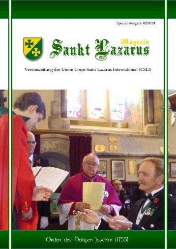 Orden des Heiligen Orden des Heiligen Joachim ... - Lazarus Union