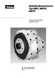 Radialkolbenmotoren Typ MRT, MRTE, MRTF