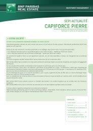 SCPI Capiforce Pierre - Haussmann Patrimoine