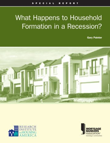 What Happens to Household Formation in a Recession? - Research ...