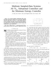 Multirate Sampled-Data Systems: All H/spl infin ... - IEEE Xplore