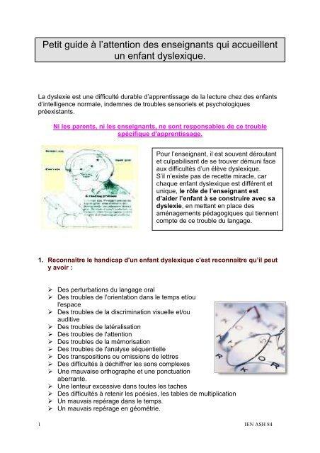 b8527afb7dd5ab Adaptation-pedagogique-eleve-dyslexique.pdf - ASH 84