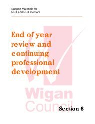 end of year review - Wigan Schools Online