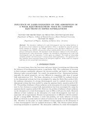 influence of laser radiation on the absorption of a weak ...