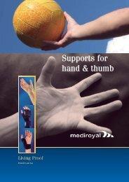 Supports for hand & thumb - Mediroyal