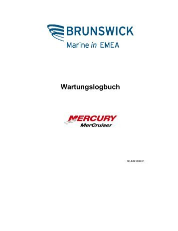 Wartungslogbuch - Brunswick Marine in EMEA Download Center