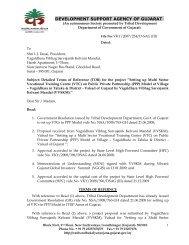 development support agency of gujarat - Vanbandhu Kalyan Yojana ...