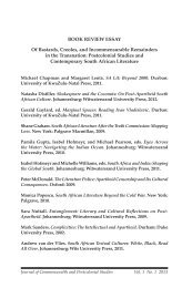 Postcolonial Studies and Contemporary South African ... - Oswego