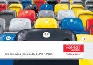 Ihre Business Seats in der ESPRIT arena. espritarena