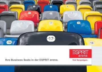 Ihre Business Seats in der ESPRIT arena. espritarena