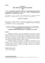Pobierz projekt - Strzelce Krajeńskie - Miasto i Gmina