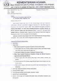 Pemanggilan Peserta Diklat - Kanwil Kemenag Provinsi Kalimantan ...