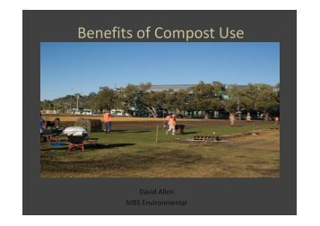 Benefits of Compost Use - Compost for Soils