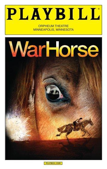 War Horse Playbill - Hennepin Theatre Trust