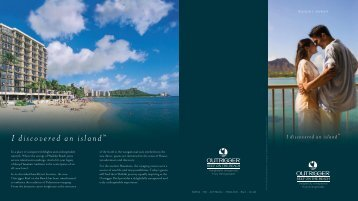 I discovered an island™ - Outrigger Hotels and Resorts