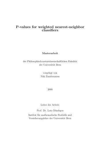 Full text (pdf, 451KB) - Institut für mathematische Statistik und ...