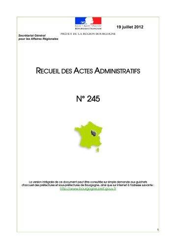 RAA 245 - Préfecture de la Côte-d'Or